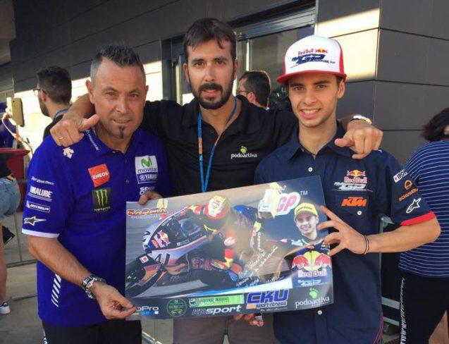 Visita de Vitalpie a Marc García en Motorland