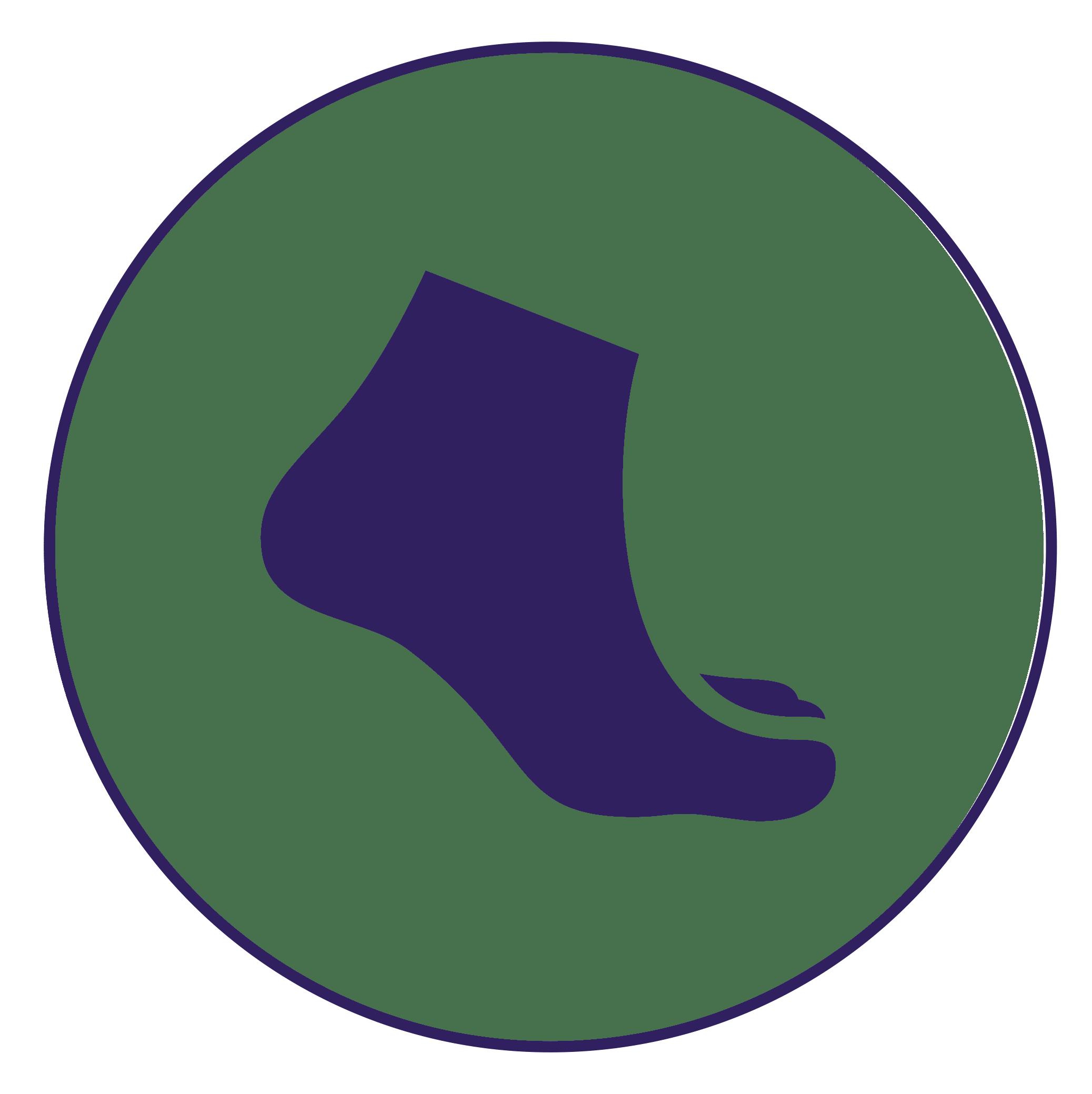 podología general imagen de un icono de pie